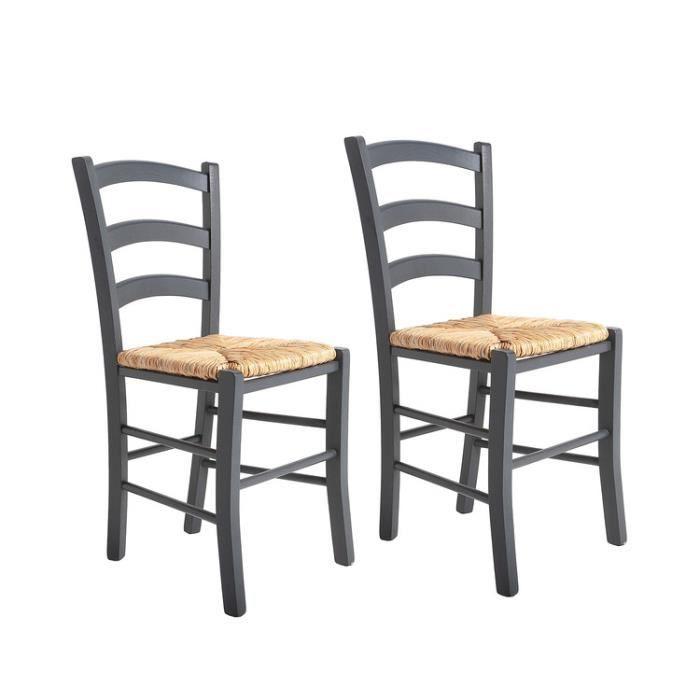 amazing chaise en bois avec assise en paille lot de pa with chaise cuisine bois paille. Black Bedroom Furniture Sets. Home Design Ideas