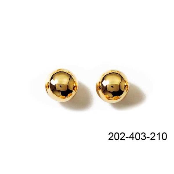 Boucles doreilles perles en plaqué or 10 mm