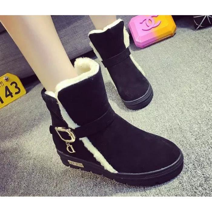 Bottes de neige matte chaussures de velours Dua...