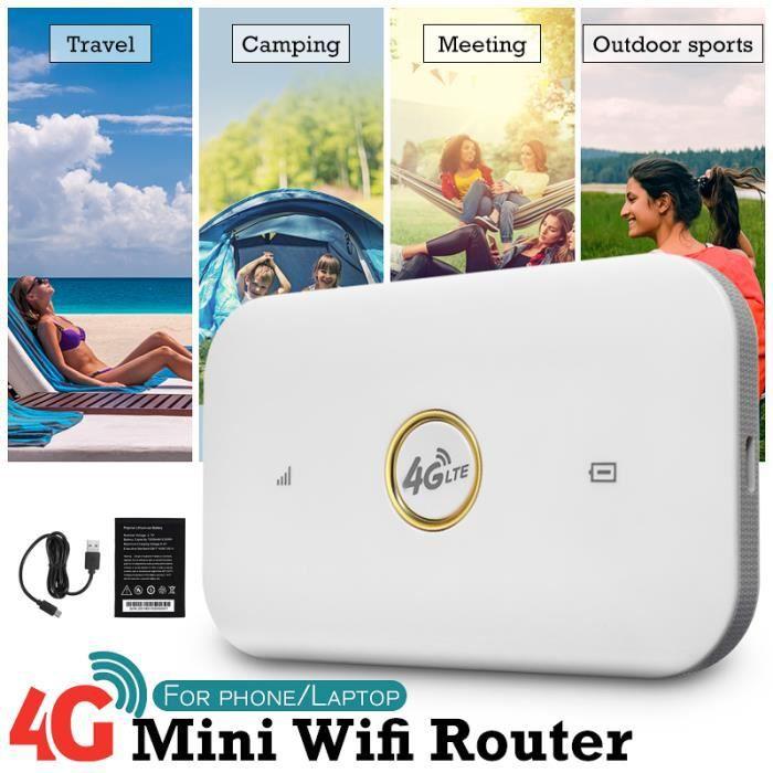 MODEM - ROUTEUR Portable 3G 4G Wi-Fi Rapide Routeur Sans Fil Mobil