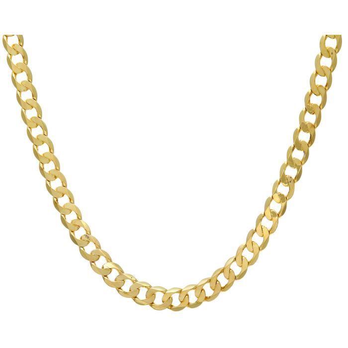 Revoni - Collier courbé en or jaune 9 carats 43,7 g, longueur 46 cm et largeur 9 mm