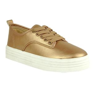 Lacer Plate-forme matelassée Casual Flat confortable Une Ribben Sneakers GBLEQ Taille-39 1-2 BHBL3bWjmn