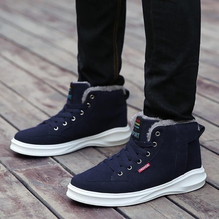 Botte Homme British Simple Loisirs non-slipAjouter Laine Skater bleu foncé taille9.5