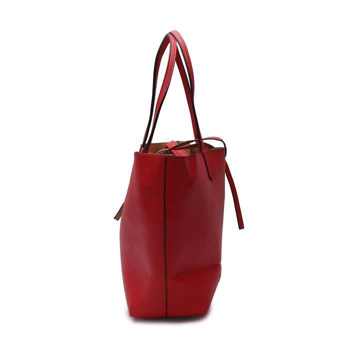 Sac de mode de femmes dans le sac à main en cuir Pu Sac à bandoulière 2 Pcs Set fourre-tout pour les filles et BRASC