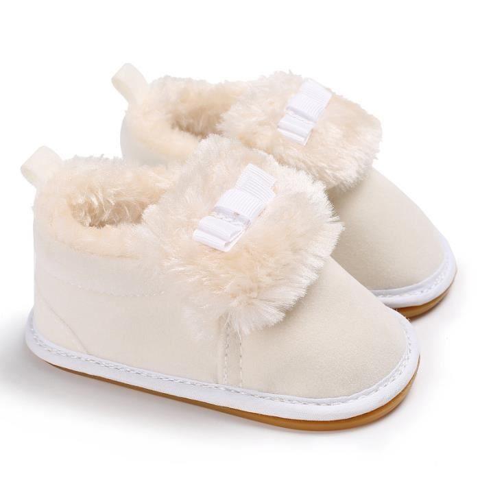 Blanc-2017 Nouveau Hiver Garde au chaud bébé Chaussures basses Chaussures de bébé en bas âge