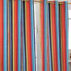 Paire de rideaux à oeillets - Rayures Multicolore 117 x 137 cm ...