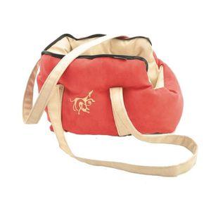 VADIGRAN Sac de transport Domino pour chien rouge/beige 40cm