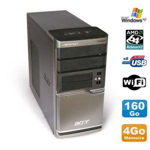 UNITÉ CENTRALE + ÉCRAN PC ACER Veriton M420 Athlon X2 4850B Ram 4Go Disqu