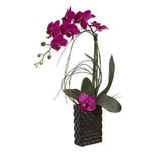 FLEUR ARTIFICIELLE Orchidée artificielle design Fuchsia - Contenant C