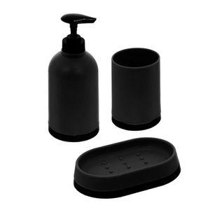 accessoire salle de bain noir achat vente pas cher. Black Bedroom Furniture Sets. Home Design Ideas