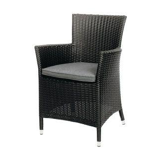 FAUTEUIL CUBA ROTIN PVC NOIR + COUSSIN GRIS - Achat / Vente fauteuil ...