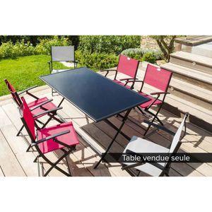 Table rectangulaire pliante FLEXIA 6 places Noir - Hespéride - Achat ...