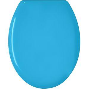 ABATTANT WC Abattant WC 'Color' Bleu Uni 48 x 36 x 4 cm