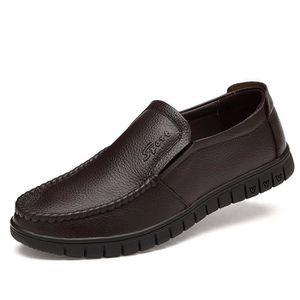 JOZSI Chaussures Hommes Cuir Confortable mode Homme chaussure de ville FXG-XZ196Marron38 cJAuO6QvZ