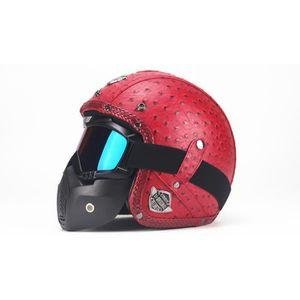 CASQUE MOTO SCOOTER 2018 nouveau casque moto cool avec masque 4