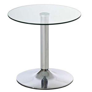 TABLE D'APPOINT Table d'appoint en métal avec plateau en verre - D