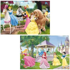 PUZZLE Puzzle 2 x 24 pièces : Princesses Disney : Prin…