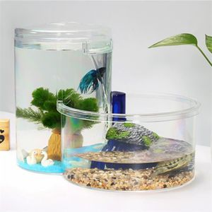 AQUARIUM Acrylique Tortue et Fish Tank 5L Ecologie mini-aqu