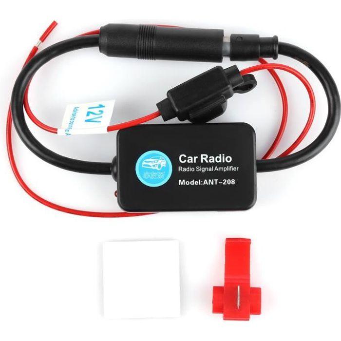 amplificateur d 39 antenne autoradio pour vehicule voiture 12v. Black Bedroom Furniture Sets. Home Design Ideas