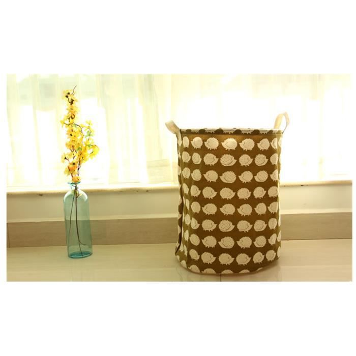 panier boite de rangement tissu rond jouet v tement panier linge bouche lacet achat. Black Bedroom Furniture Sets. Home Design Ideas