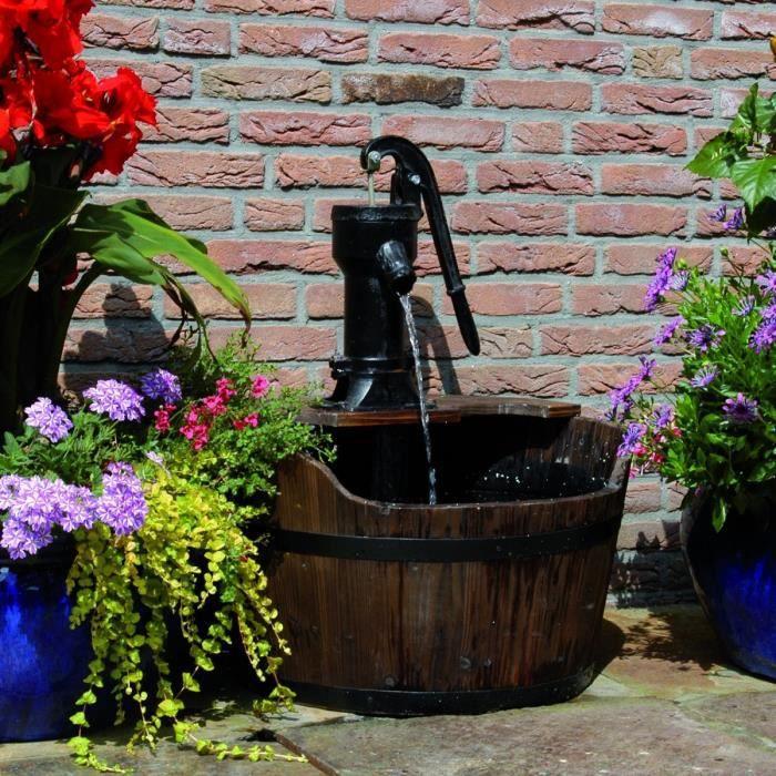 P114 Ubbink fontaine de jardin Forme de tonneau bois - Achat / Vente ...