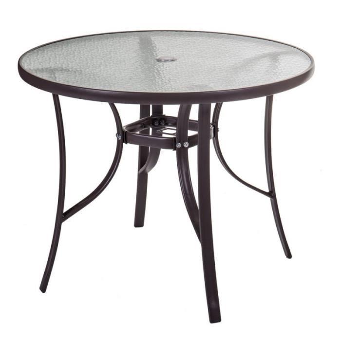 Table de jardin ronde 90cm - Achat / Vente pas cher