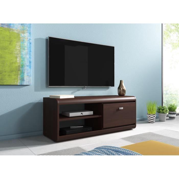 meuble tv bois fonce achat vente meuble tv bois fonce pas cher soldes d s le 10 janvier. Black Bedroom Furniture Sets. Home Design Ideas
