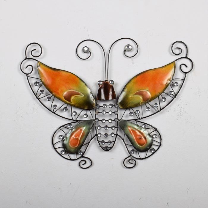 papillon mural en metal achat vente papillon mural en. Black Bedroom Furniture Sets. Home Design Ideas