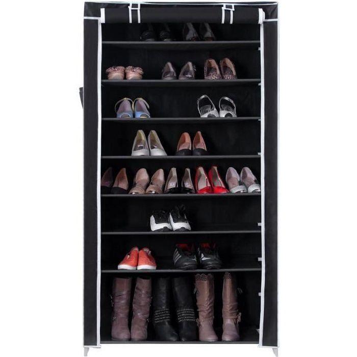Armoire Dressing En Tissu Pour Bottes Et Chaussures 88x28x160cm N4