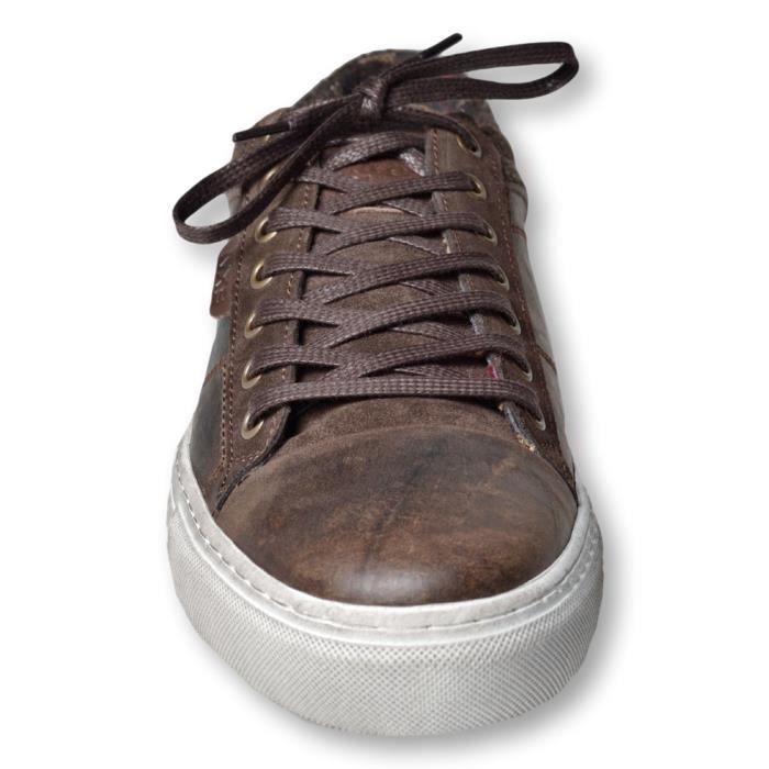 NO EXCESS - Baskets basses homme - marron - model sneaker - nouveauté