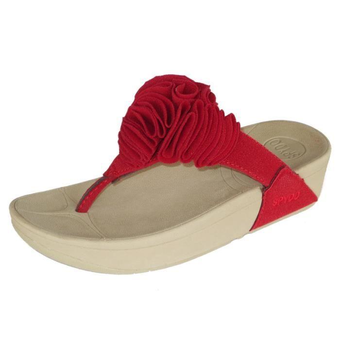 Sandales femme nouvelle mode décontracté Été Bonbons couleurs florale