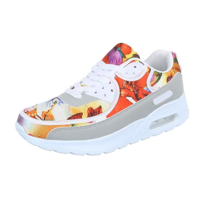 Femme chaussures loisirs chaussures Sneakers blanc Multi 41