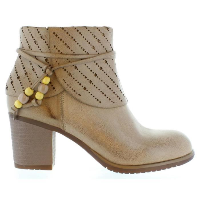 Bottes pour Femme MARIA MARE 66131 WAXED TAUPE