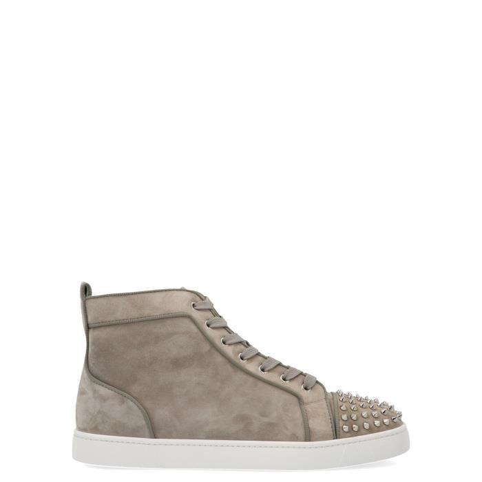 taille 40 bf35b ccd1c CHRISTIAN LOUBOUTIN HOMME 1170725H910 BEIGE CUIR BASKETS MONTANTES