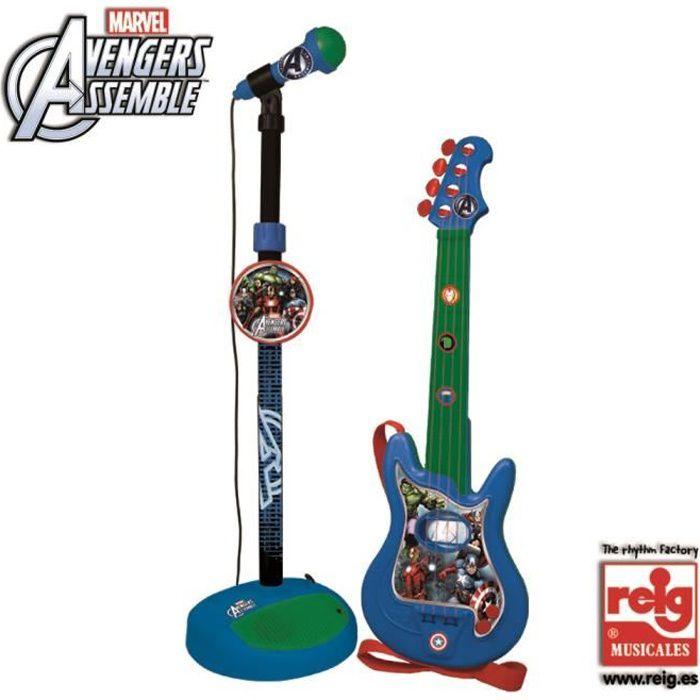 AVENGERS Guitare avec microphone - 4 cordes - Achat ...