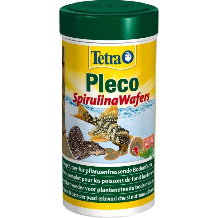 Tetra Aliment Complet 100% Végétal À Base De Spiruline - Pleco Spirulina Wafers 250 Ml Pour Poisson Fond