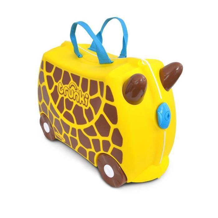 TRUNKIValise Porteur à roulettes pour enfants - Girafe Gerry