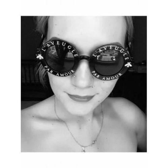 L aveugle Par Amour Lunettes de Soleil Femme Blanche - Achat   Vente  lunettes de soleil Femme Blanc - Cdiscount 4b7f8cba0821