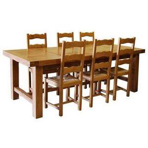 TABLE À MANGER SEULE Table de ferme chêne + 6 chaises
