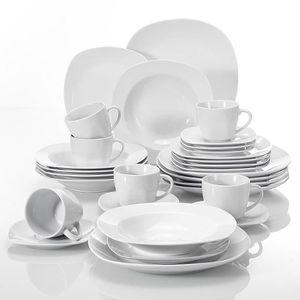 ASSIETTE Malacasa Série ELISA 30pcs Porcelaine Service de T
