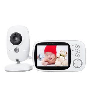 ÉCOUTE BÉBÉ Baby Phone Moniteur LCD bébé 3,2 po - blanc + noir