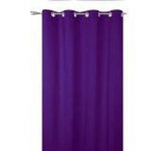 Rideaux occultants violet achat vente rideaux occultants violet pas cher cdiscount for Rideau prune