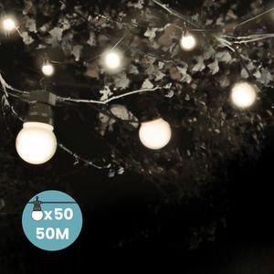 GUIRLANDE D'EXTÉRIEUR Kit Guirlande Guinguette 50m Blanc