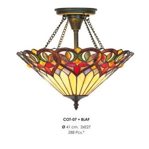 LAMPE A POSER Casa Padrino Tiffany Ceiling Lamp 41 cm Heart Desi
