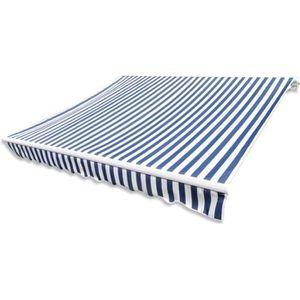 STORE - STORE BANNE  Store Banne en Toile Bleu Blanc 3 x 2,5 m convient