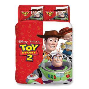 HOUSSE DE COUETTE ET TAIES Toy Story Parure de Couette 3D Imprime-1 Housse de