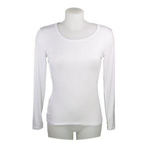 Sous pull femme en viscose manches longues T-shirt