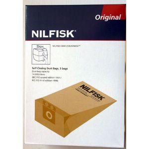 SAC ASPIRATEUR NILFISK 822 229 00 - 5 Sacs aspirateur NILFISK ori