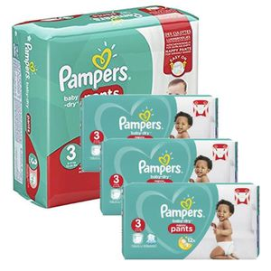 COUCHE Giga Pack 390 Couches Pampers Baby Dry Pants taill