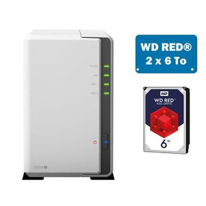 SERVEUR STOCKAGE - NAS  Synology DS218J WD RED 12To